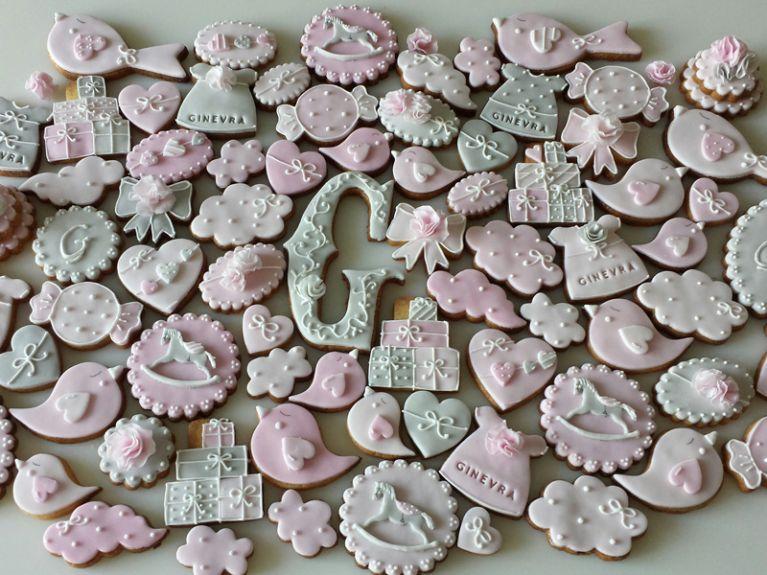 Biscotti fantasia nascita bimba